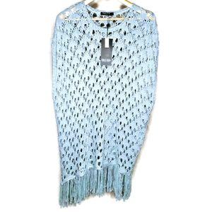Point Zero Curvy Mint Crochet Sweater 1X